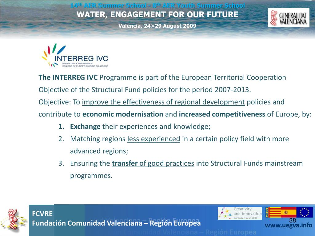 The INTERREG IVC