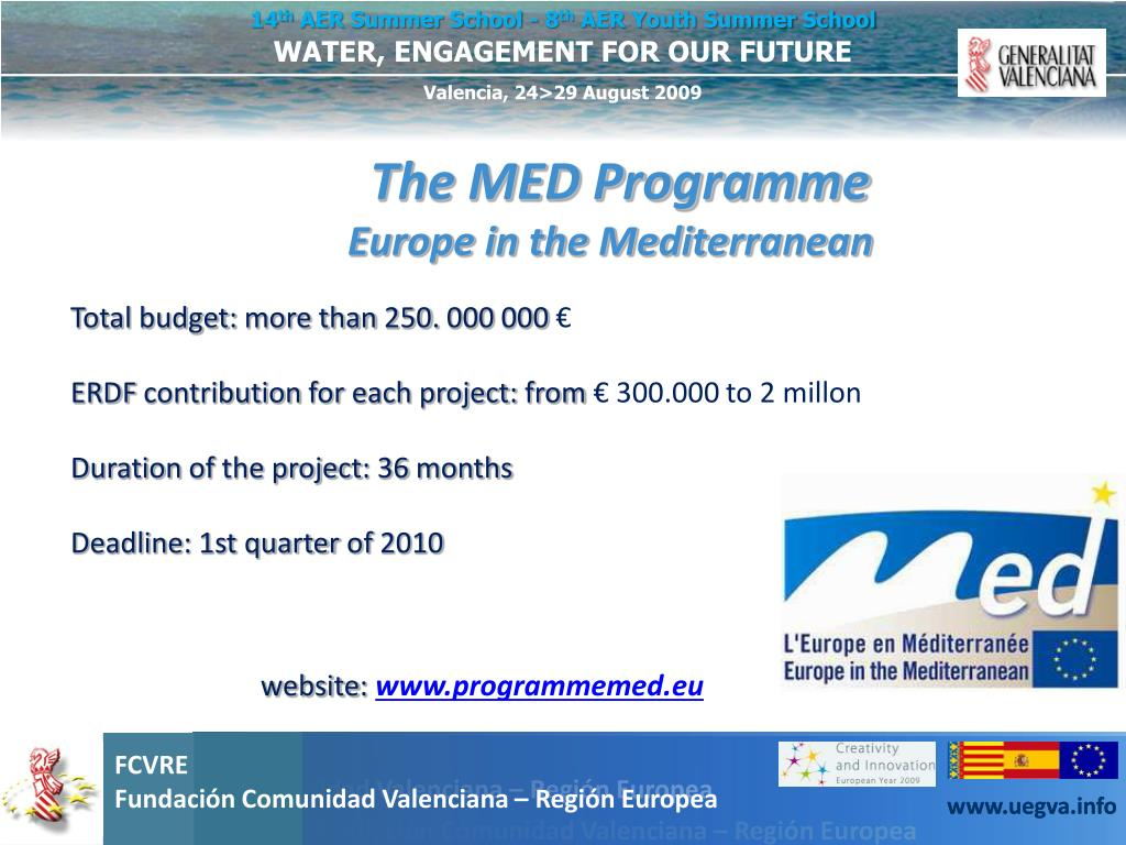 The MED Programme