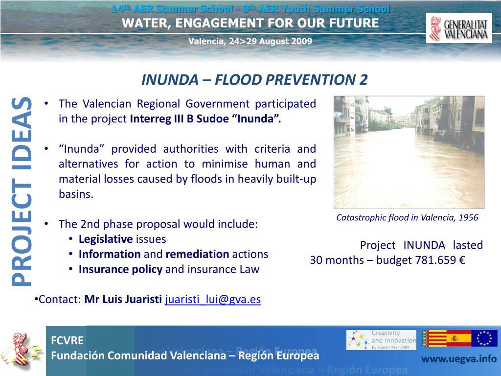 INUNDA – FLOOD PREVENTION 2