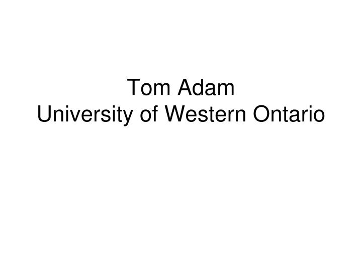 Tom Adam