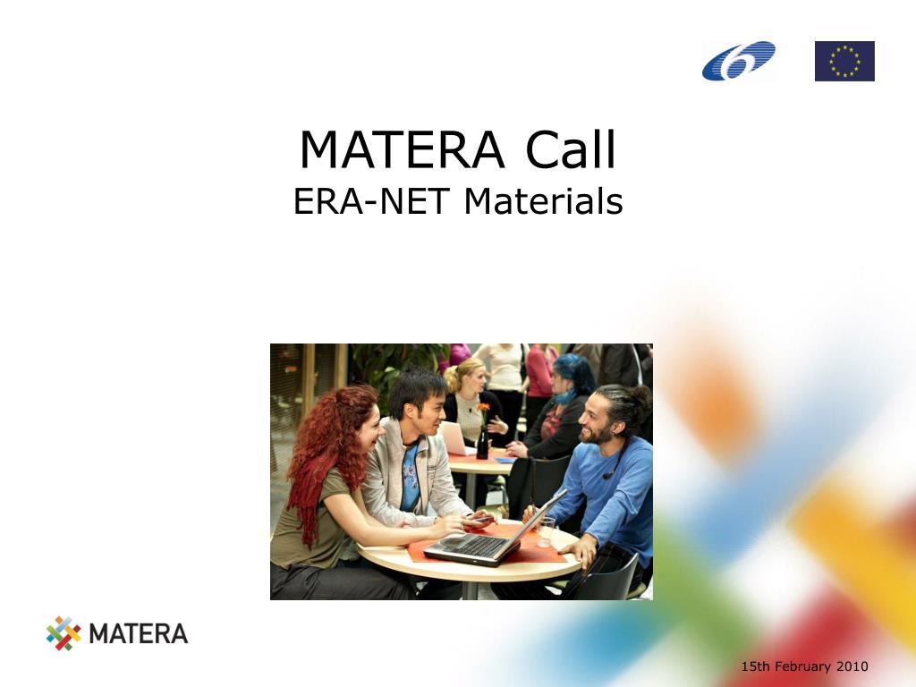 MATERA Call