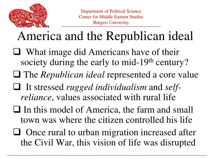America and the republican ideal