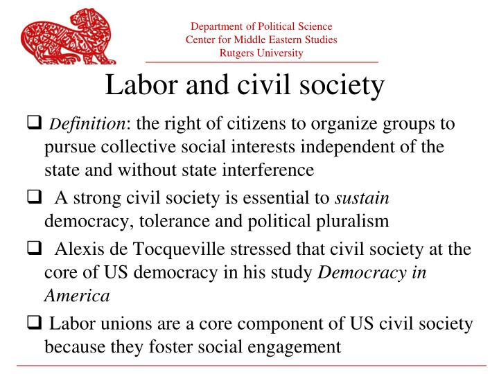 Labor and civil society