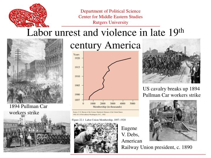 Labor unrest and violence in late 19