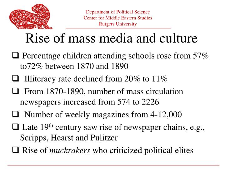Rise of mass media and culture
