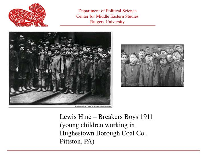 Lewis Hine – Breakers Boys 1911