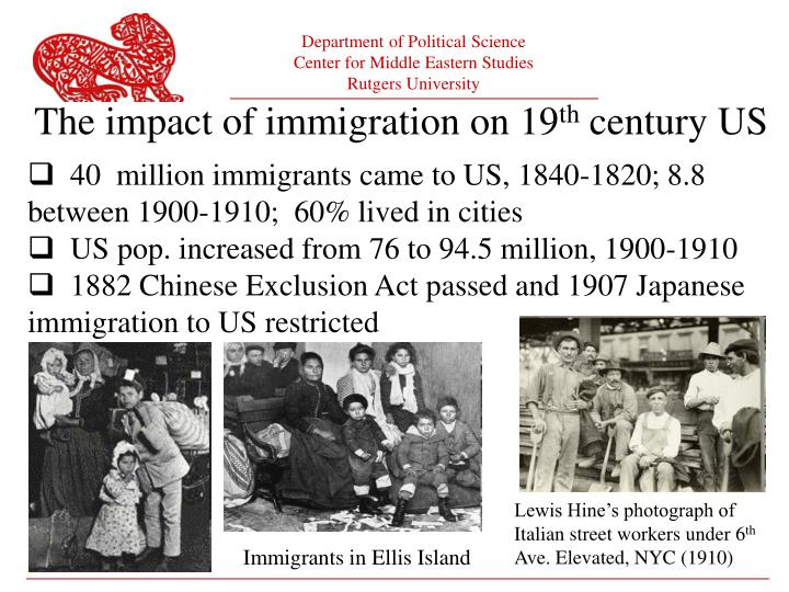 The impact of immigration on 19
