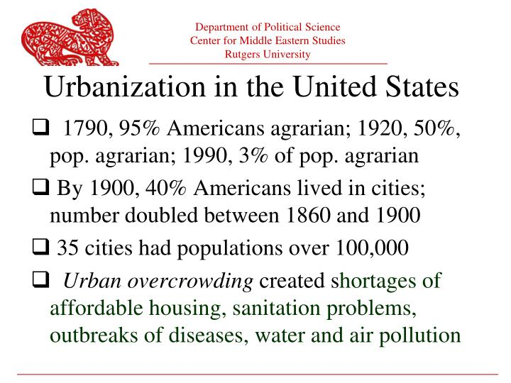 Urbanization in the United States
