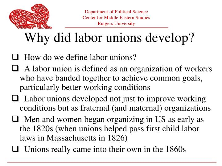 How do we define labor unions?