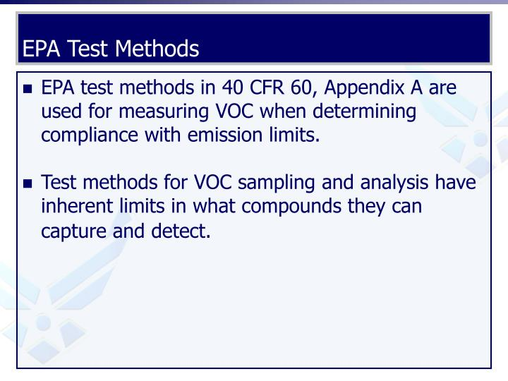 EPA Test Methods