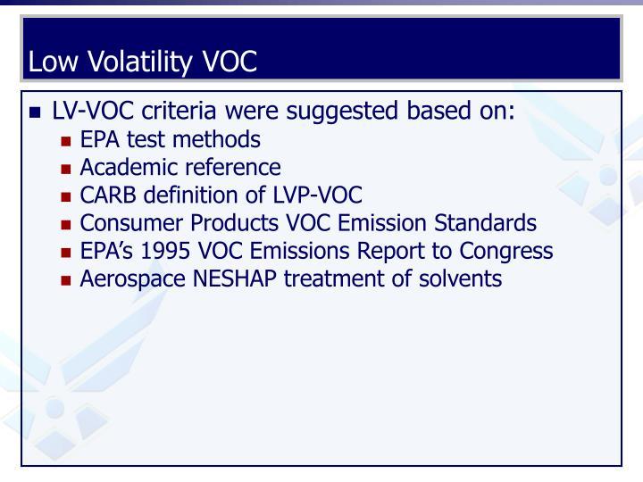 Low Volatility VOC