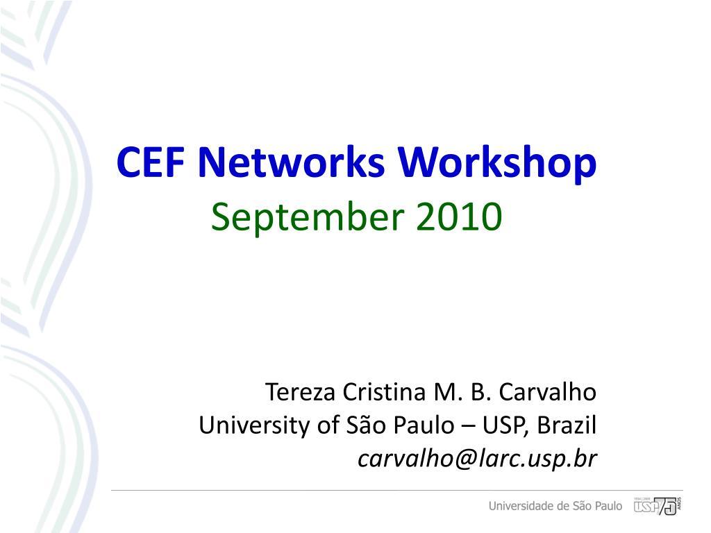 CEF Networks Workshop