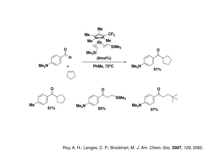 Roy, A. H.; Lenges, C. P.; Brookhart, M.