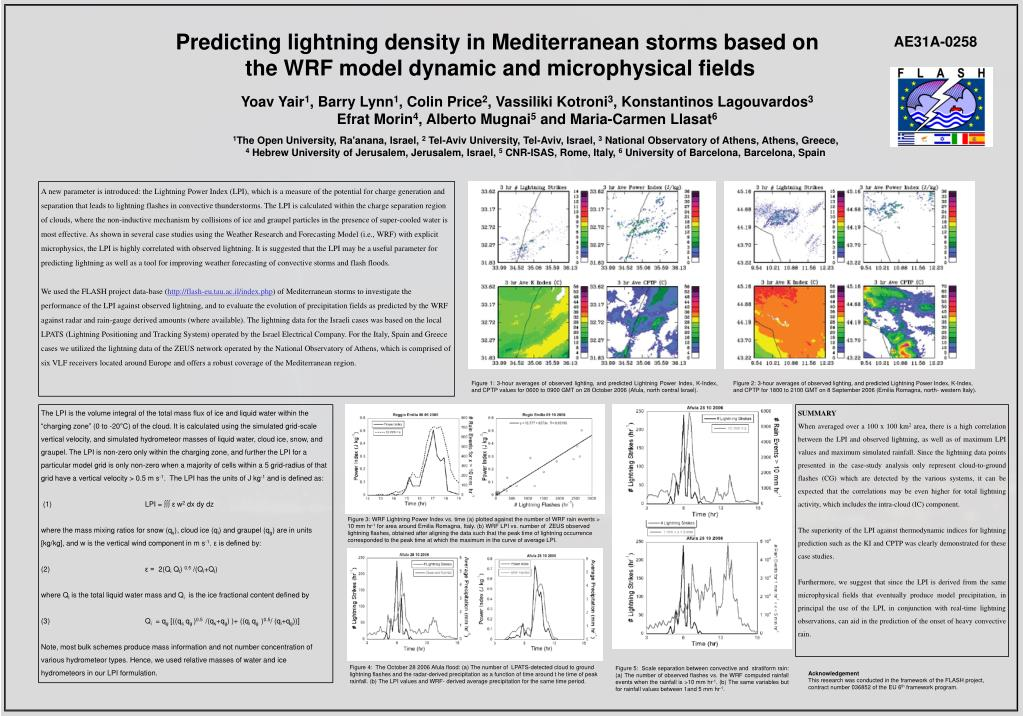 Predicting lightning density in Mediterranean storms based on