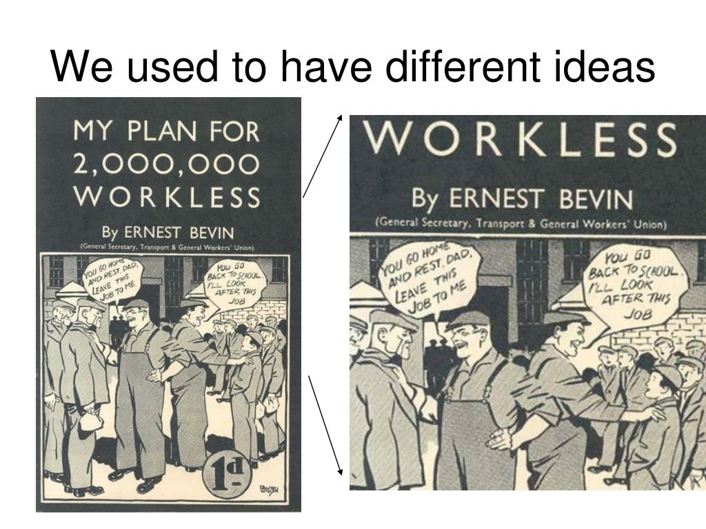 We used to have different ideas