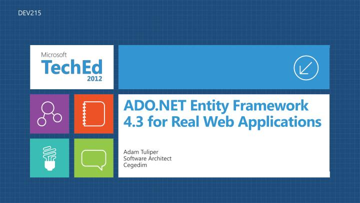 ado net entity framework 4 3 for real web applications