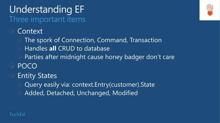 Understanding EF