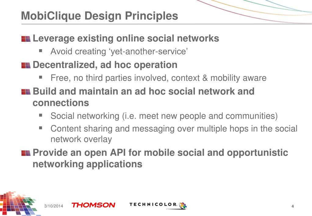 MobiClique Design Principles