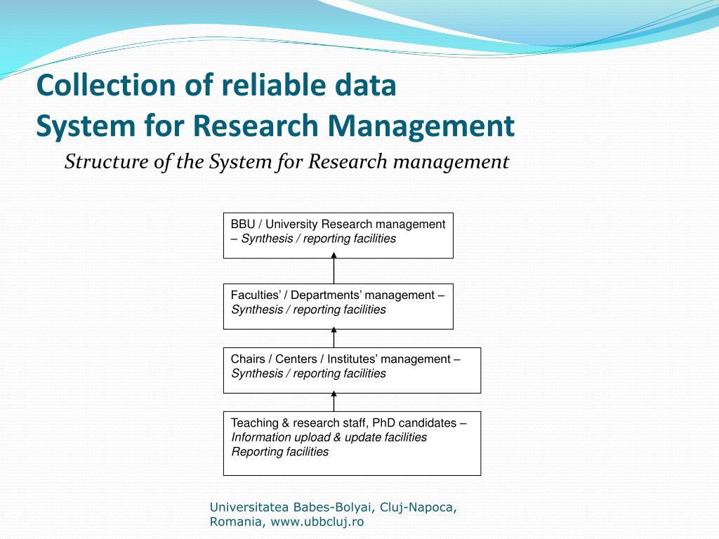 BBU / University Research management –