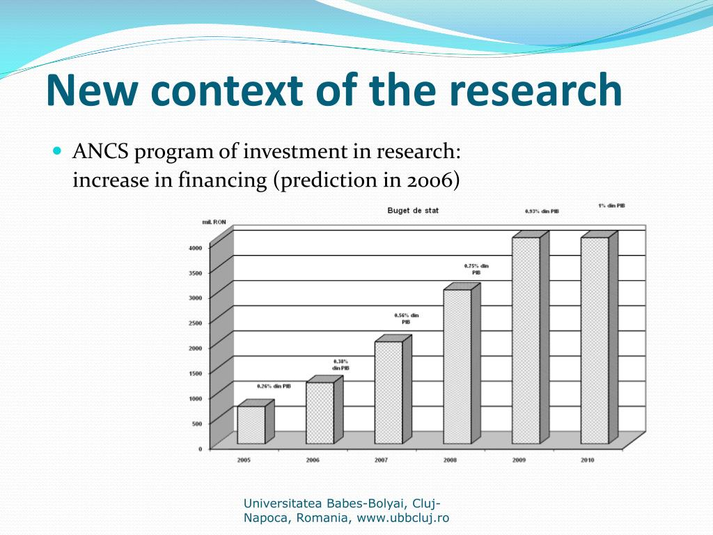 New context of the research