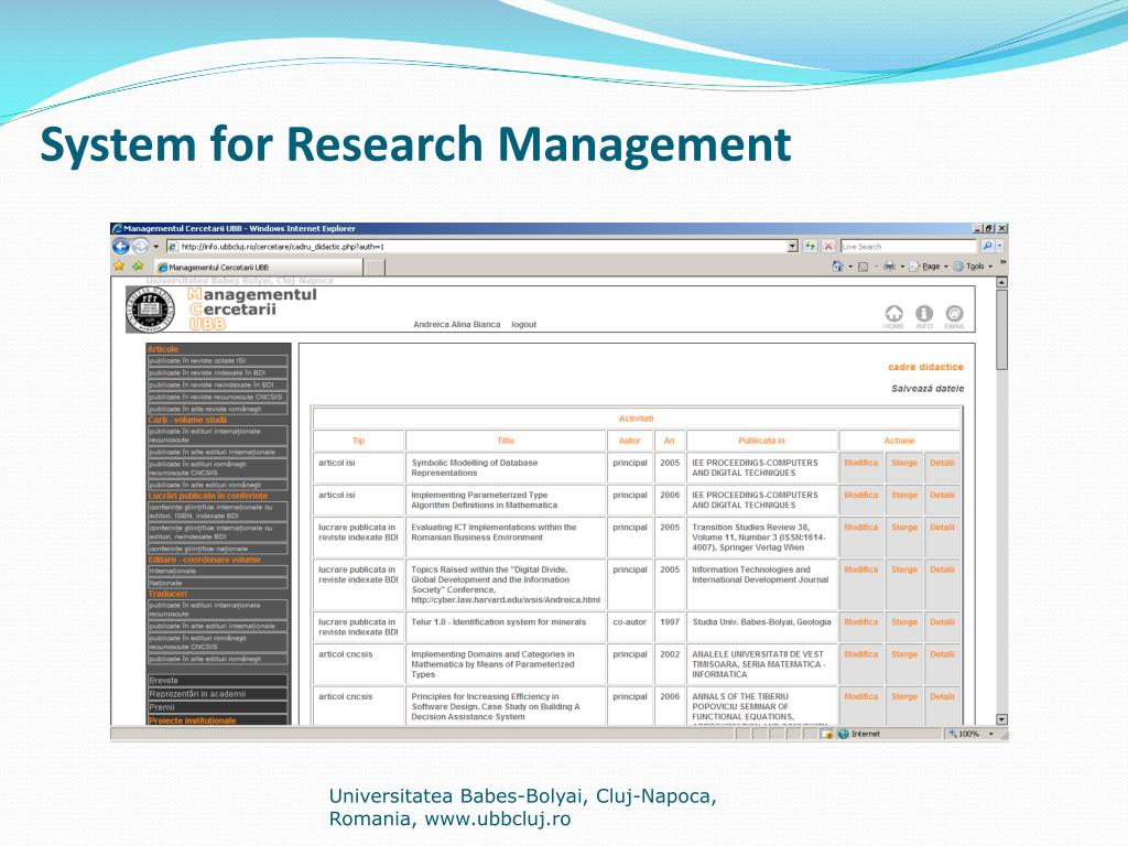 System for Research Management