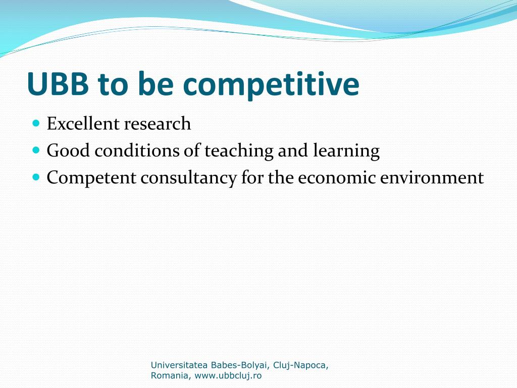 UBB to be competitive