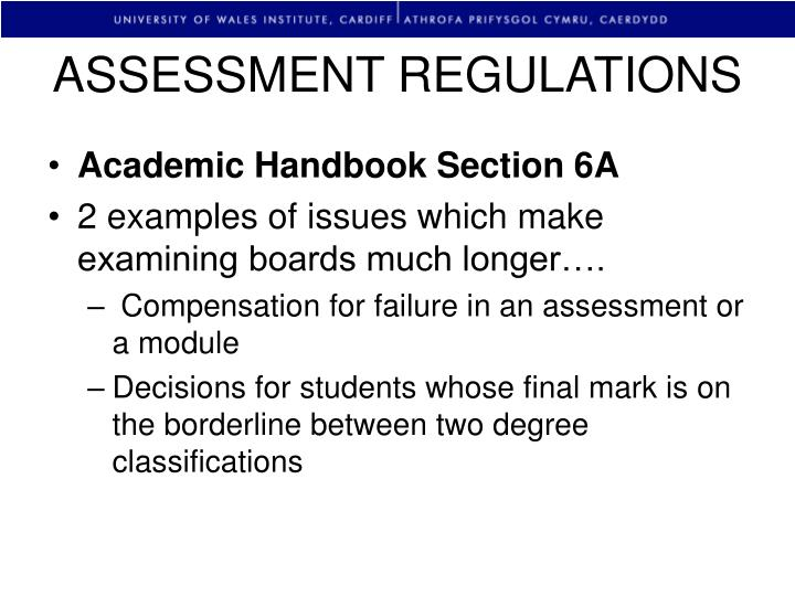 ASSESSMENT REGULATIONS
