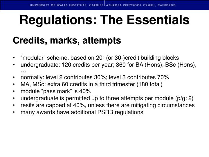Regulations: The Essentials