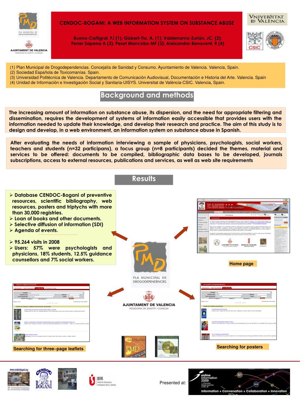 CENDOC-BOGANI: A WEB INFORMATION SYSTEM ON SUBSTANCE ABUSE