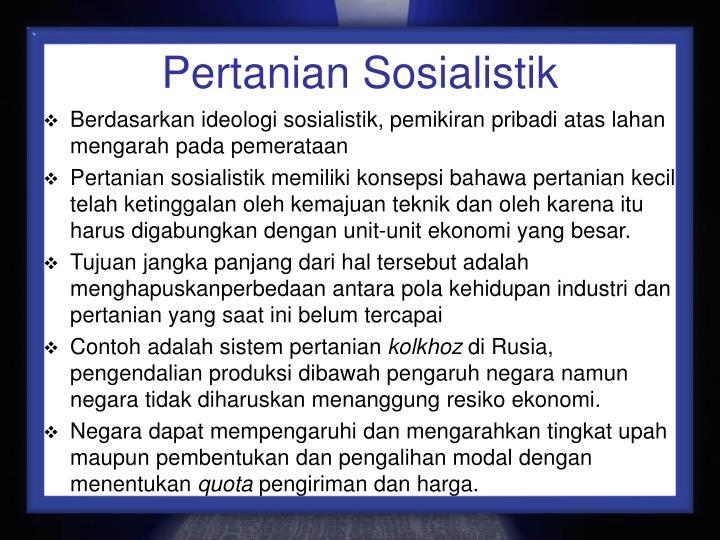 Pertanian Sosialistik