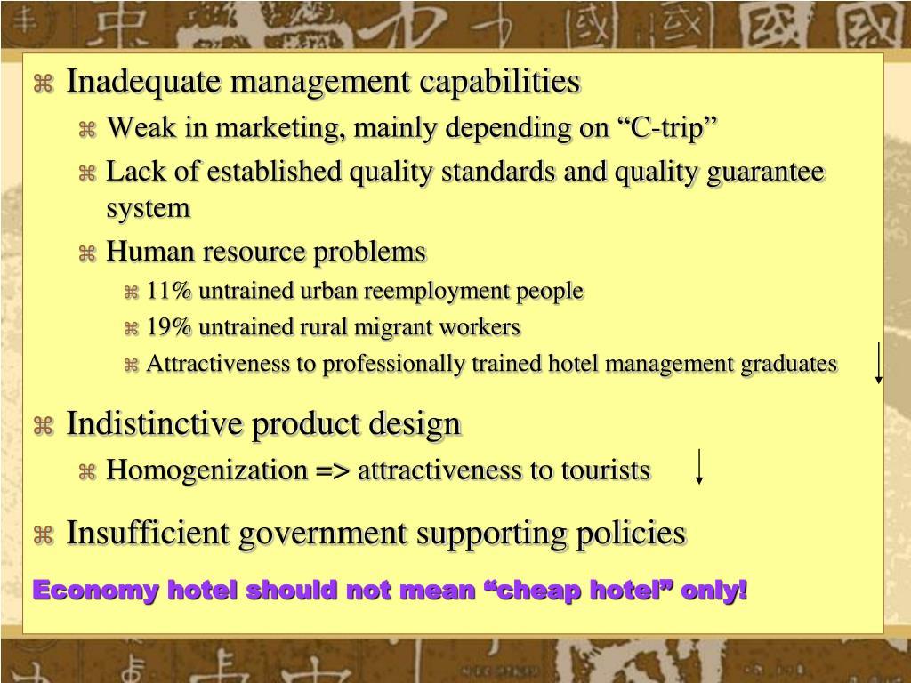 Inadequate management capabilities