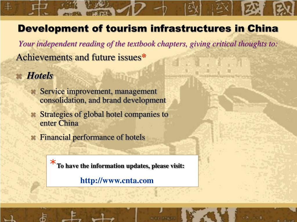 Development of tourism infrastructures in