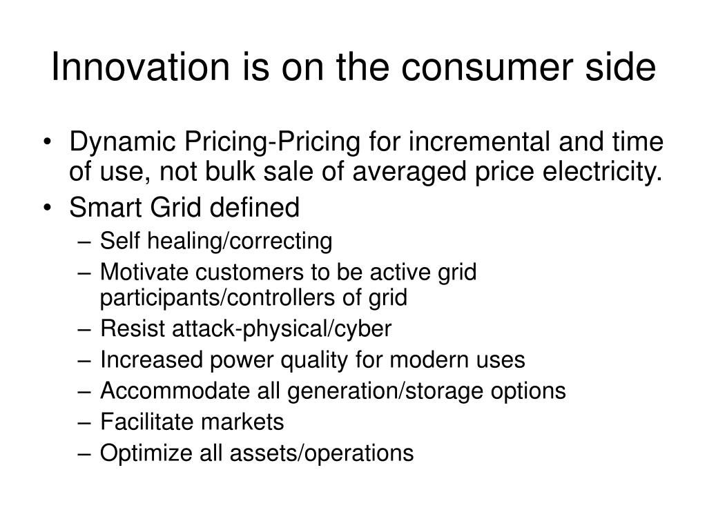 Innovation is on the consumer side
