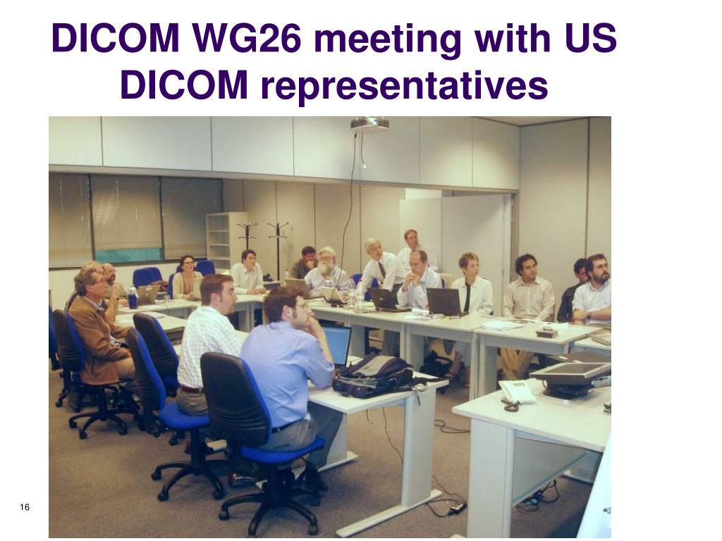 DICOM WG26 meeting with US DICOM representatives