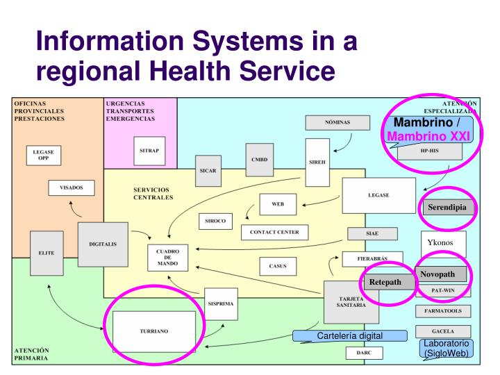Information systems in a regional health service