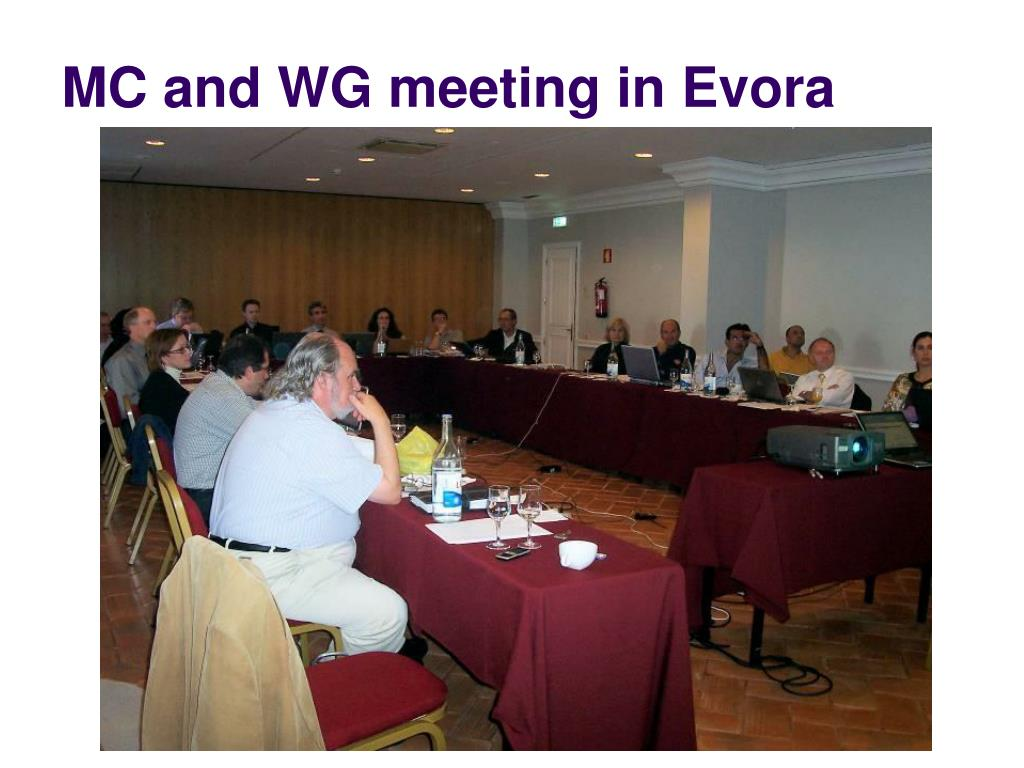 MC and WG meeting in Evora
