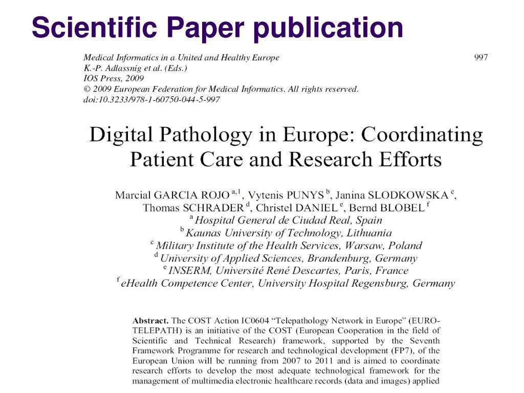 Scientific Paper publication