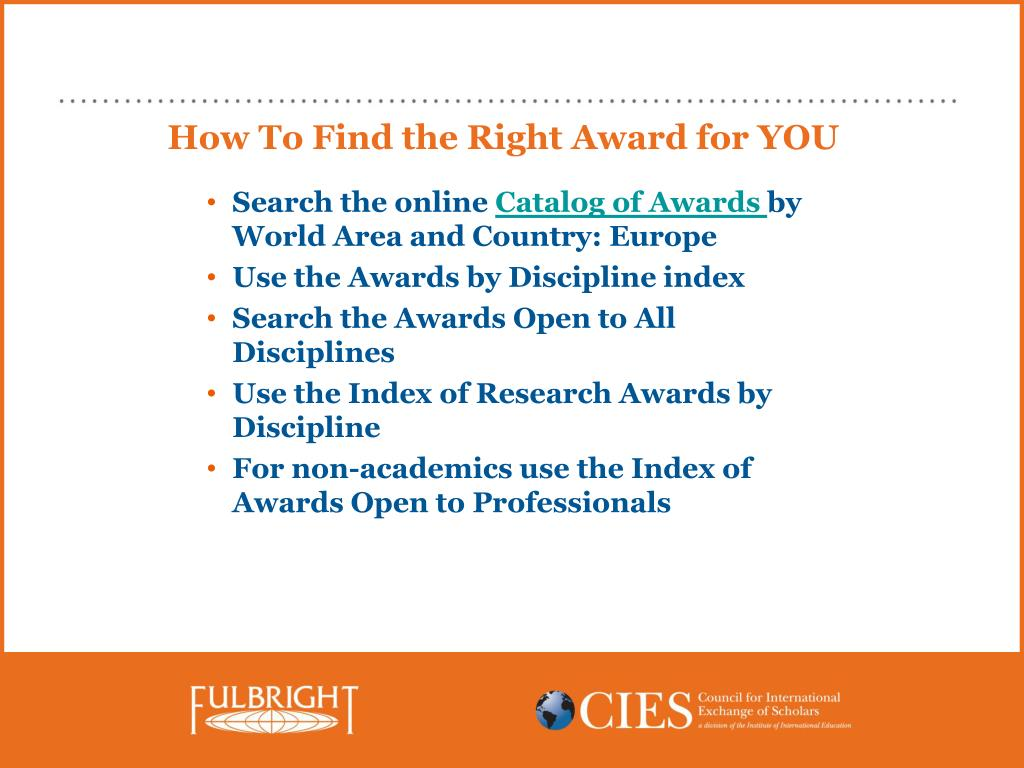 How To Find the Right Award for YOU