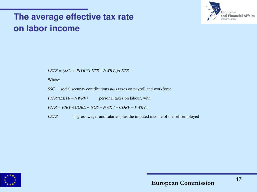 The average effective tax rate