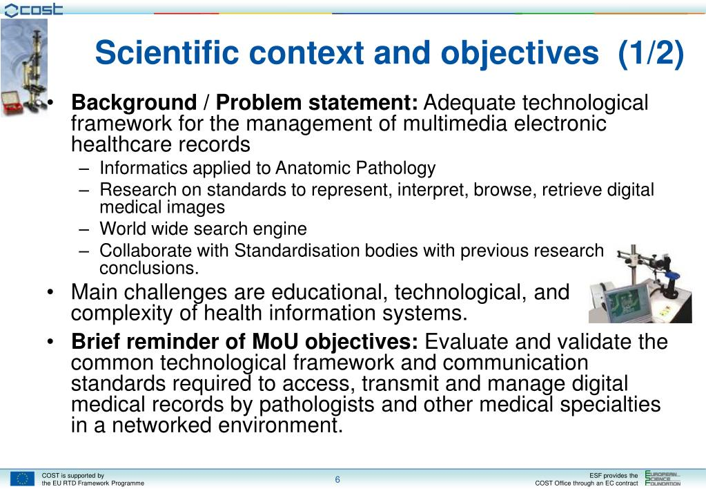 Scientific context and objectives  (1/2)