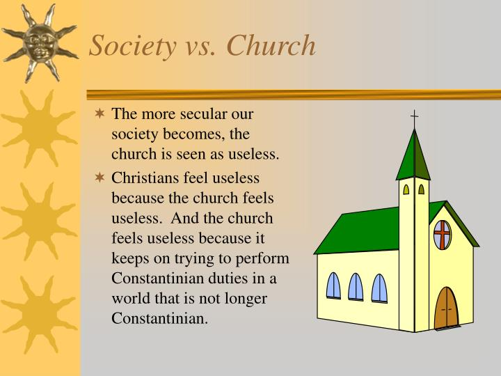Society vs. Church