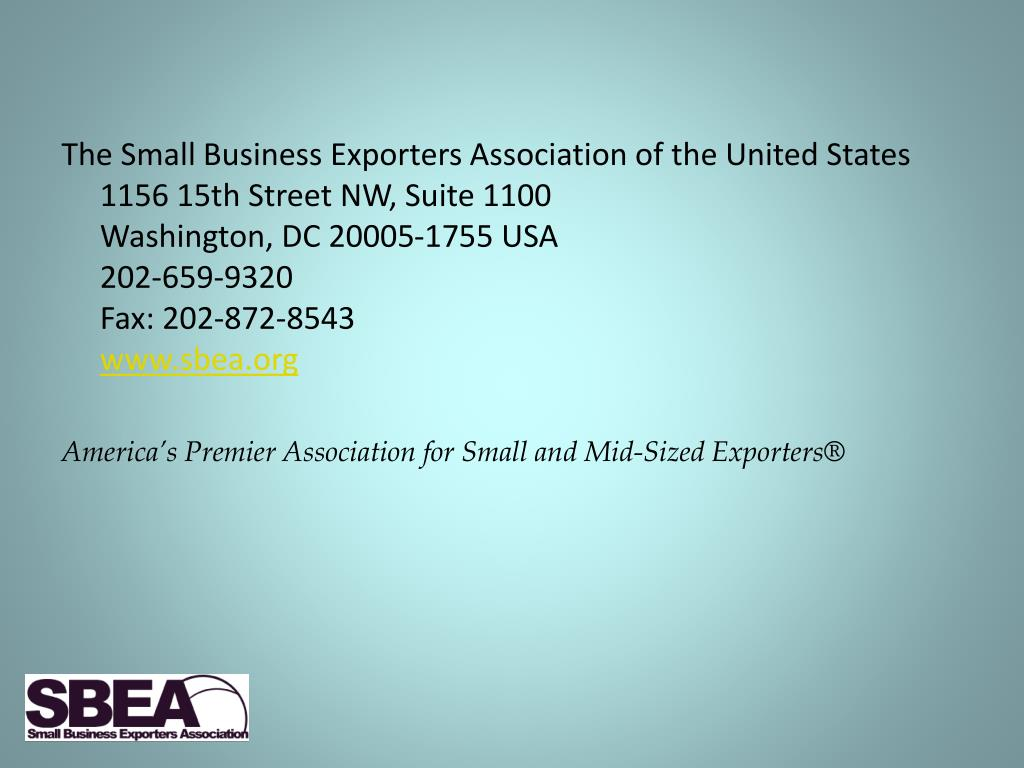 The Small Business Exporters Association of the United States