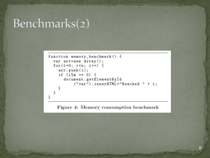 Benchmarks(2)
