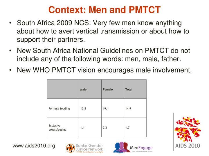Context: Men and PMTCT