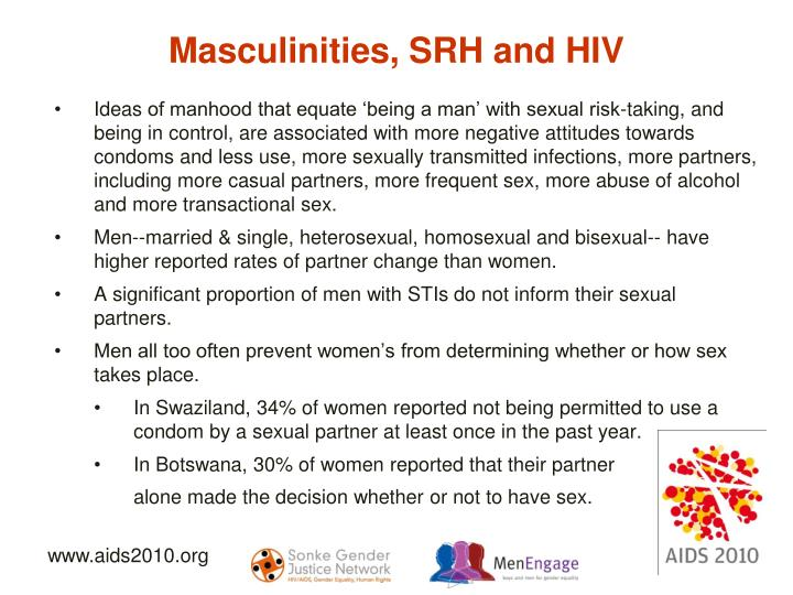 Masculinities, SRH and HIV