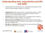 understanding men masculinities and hiv and aids