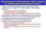 discriminazione e differenziazione delle condizioni di vendita praticate dall industria di marca