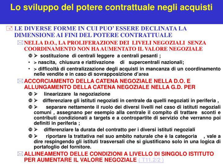 Lo sviluppo del potere contrattuale negli acquisti