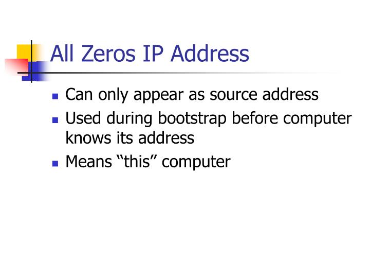 All Zeros IP Address