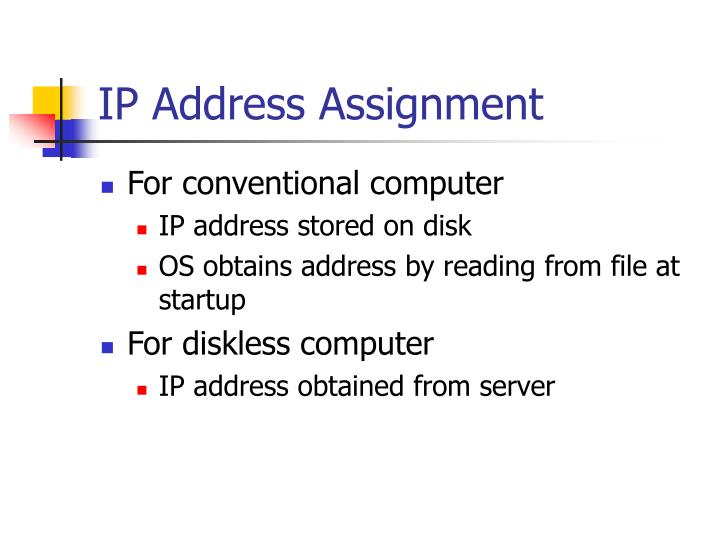 IP Address Assignment